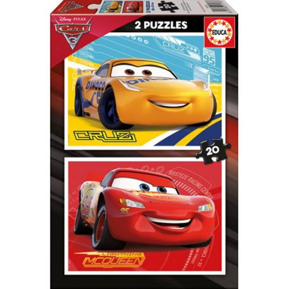 PUZZLE CARS 3 2X20 PIEZAS