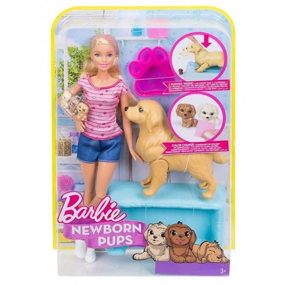 BARBIE C/PERRITOS SORPRESA