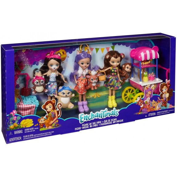 ENCHANTIMALS PACK 3 MUÑECAS CON ACCESORIOS