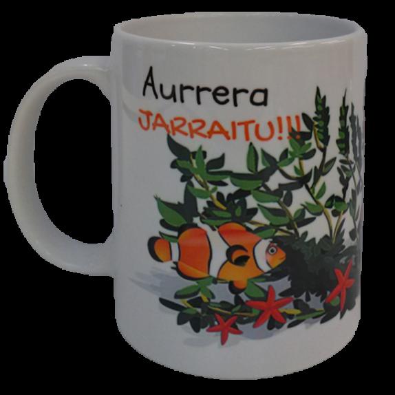 """TAZA """"AURRERA JARRAITU"""""""