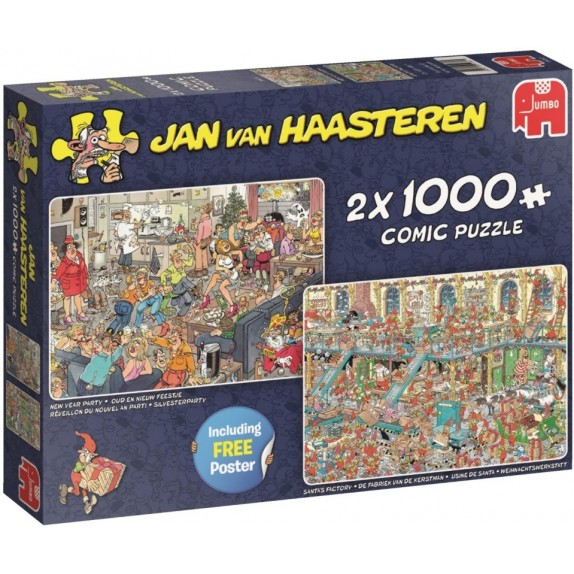 PUZZLE NEW YEAR PARTY & SANTA,S FACTORY 2X1000PZAS
