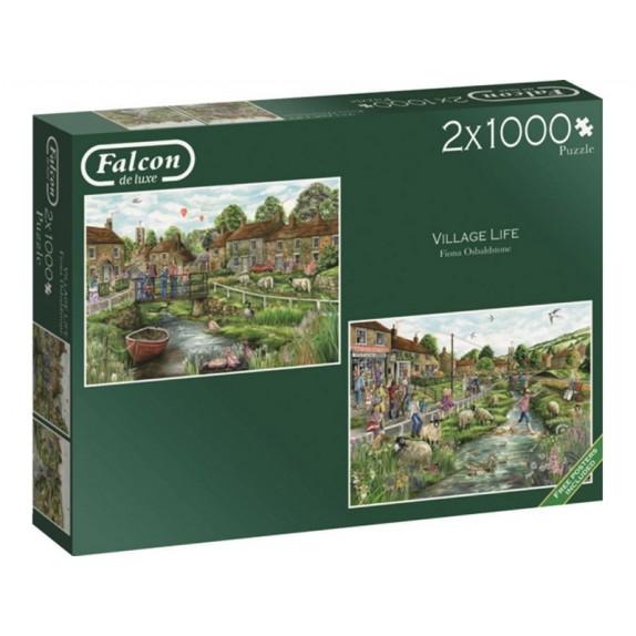 PUZZLE 2x1000 FALCON VILLAGE