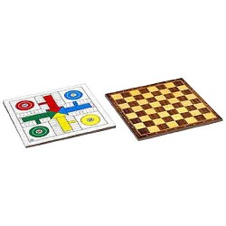 TABLERO PARCHIS/ AJEDREZ DOBLE 40X40