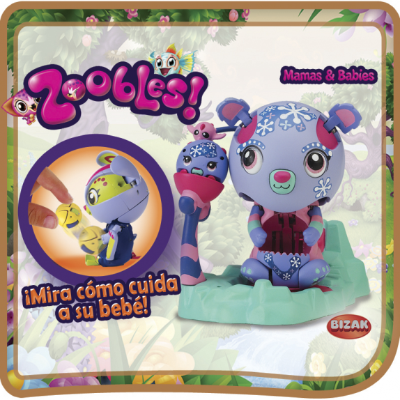 PACK 2UNIDADES MAMÁ ZOOBLES Y BEBÉ ZOOBLES