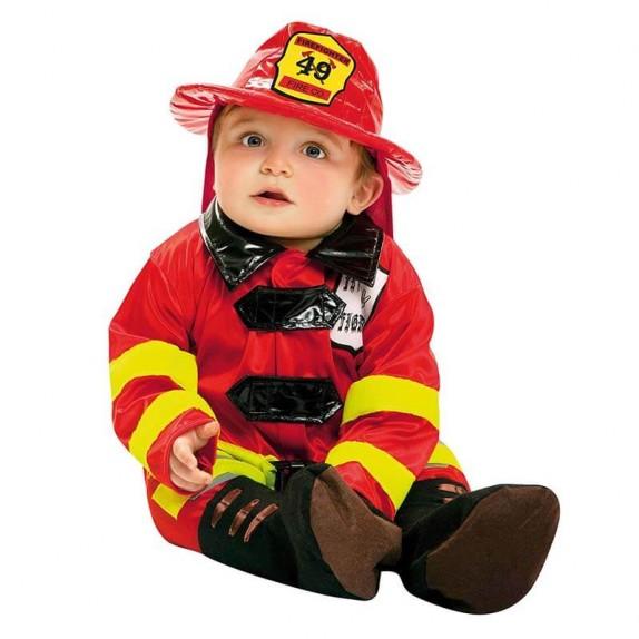 Disfraz bebe bombero